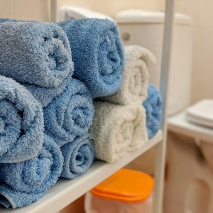Handtücher im Badezimmer